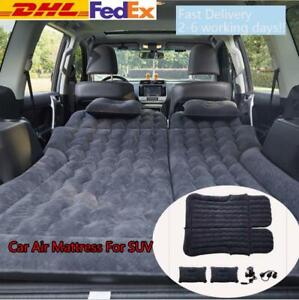 Car Inflatable Air Bed Mattress Back Rear Seat W//Pillows Pump For Travel Camping