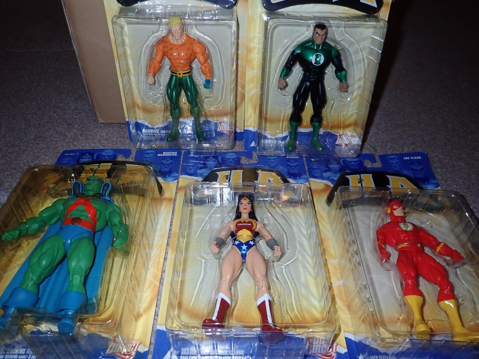 JLA classified Set of 5 figures Wonder Woman Flash Aquaman Martian Manhunter GL