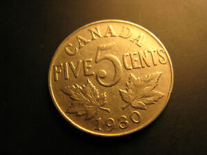Canada-1930-5-Cent-Coin