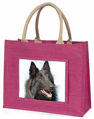 Schwarz Belgischer Schäferhund Große Rosa Einkaufstasche Weihnachtsgeschenk,