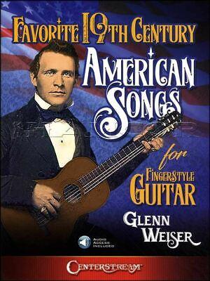 19th Century American Songs Fingerstyle Guitar Tab Book/audio Same Day Dispatch Geweldige Prijs