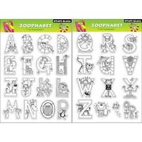 Penny Black Rubber Stamp Clear Zoophabet Alphabet Letters Set Free Usa Ship