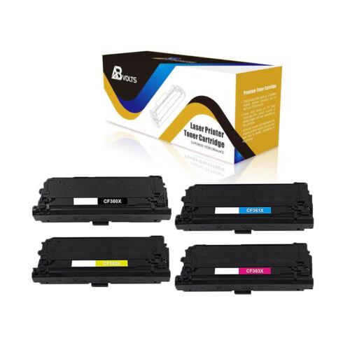 ABvolts Compatible Toner Set HP CF360X 1X 2X 3X for LaserJet Enterprise M552