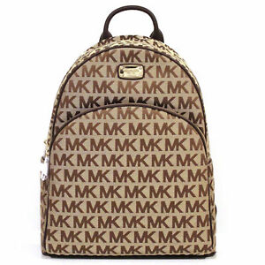 michael kors abbey large backpack brown bag jacquard 38f7xayb3j ebay rh ebay com michael kors brown backpack purse michael kors mini backpack brown