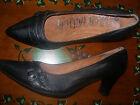 preciosos zapato mujer piel con tacon talla nº 41 negros hebillas NUEVOS