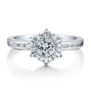 BERRICLE-Sterling-Silver-Round-Cubic-Zirconia-CZ-Snowflake-Halo-Promise-Ring