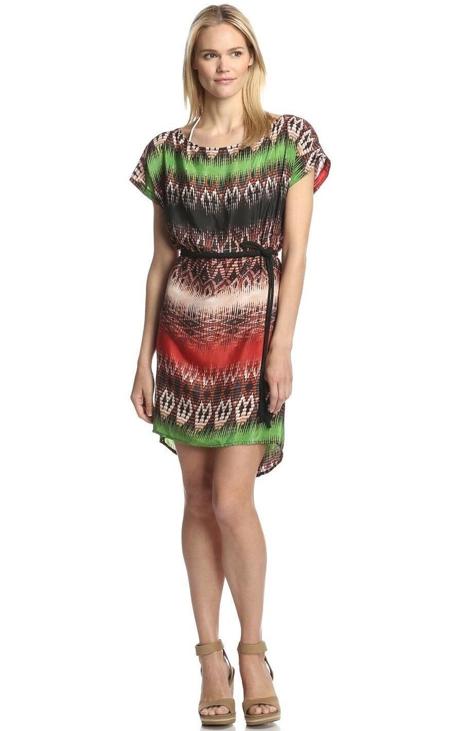 ViX Paula Hermanny Womens S Paje Lora Swimwear SILK Beach Cover-Up Dress  288