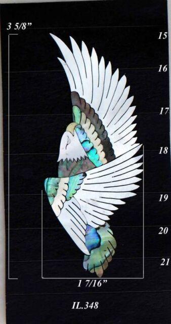 Eagle Real Inlay DIY Abalone Mop Fingerboard Body Ukule Mandolin Guitar IL348