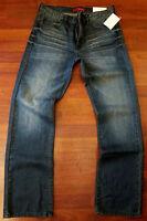 Guess Straight Leg Jeans Men's Size 38 X 30 Classic Distressed Medium Dark Wash