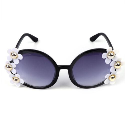 Round Sunglasses Flower Fashion Lady Women Eye Protection Beach Sunbath Eyewear