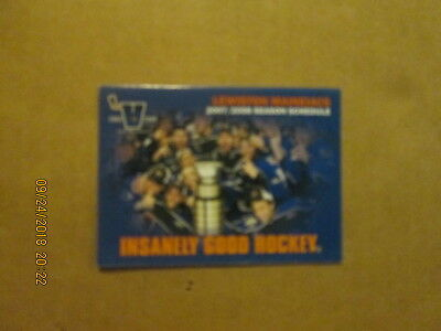 Hockey-other 2019 New Style Qmjhl Lewistown Maineiacs Vintage Defunct Circa 2007/2008 Hockey Pocket Schedule