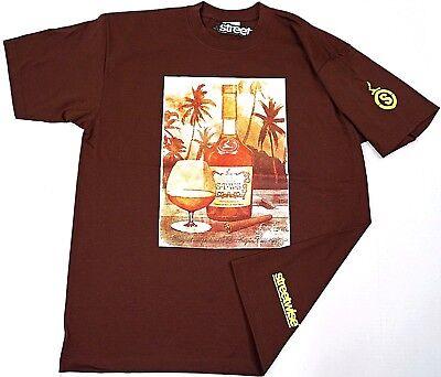 STREETWISE MONOGRAM T-shirt Urban Streetwear Tee Men L-3XL Burgundy NWT