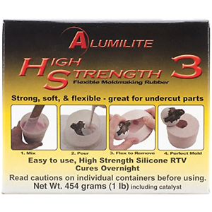 Amazing Casting Alumilite High Strength 3 Liquid Mold Making Rubber 1 Pound, New