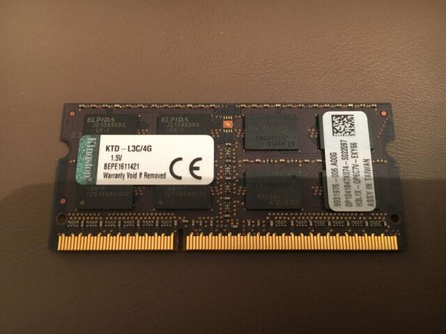 KINGSTON 4Go KTD-L3C/4G PC3-12800 1600MHz