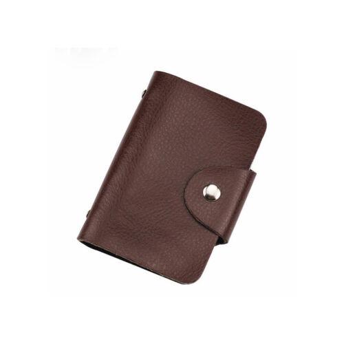 Unisex XXL Kreditkartenetui für 24 Karten Leder Kartenetui Geldbörse Geldbeutel