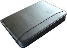 New, Padfolio Organizer, w/ PDA & Cell Pocket, Zip-around, Pen Loop, Black