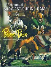 1969 Green Bay Packers vs. Chicago Bears Midwest Shrine Game Program