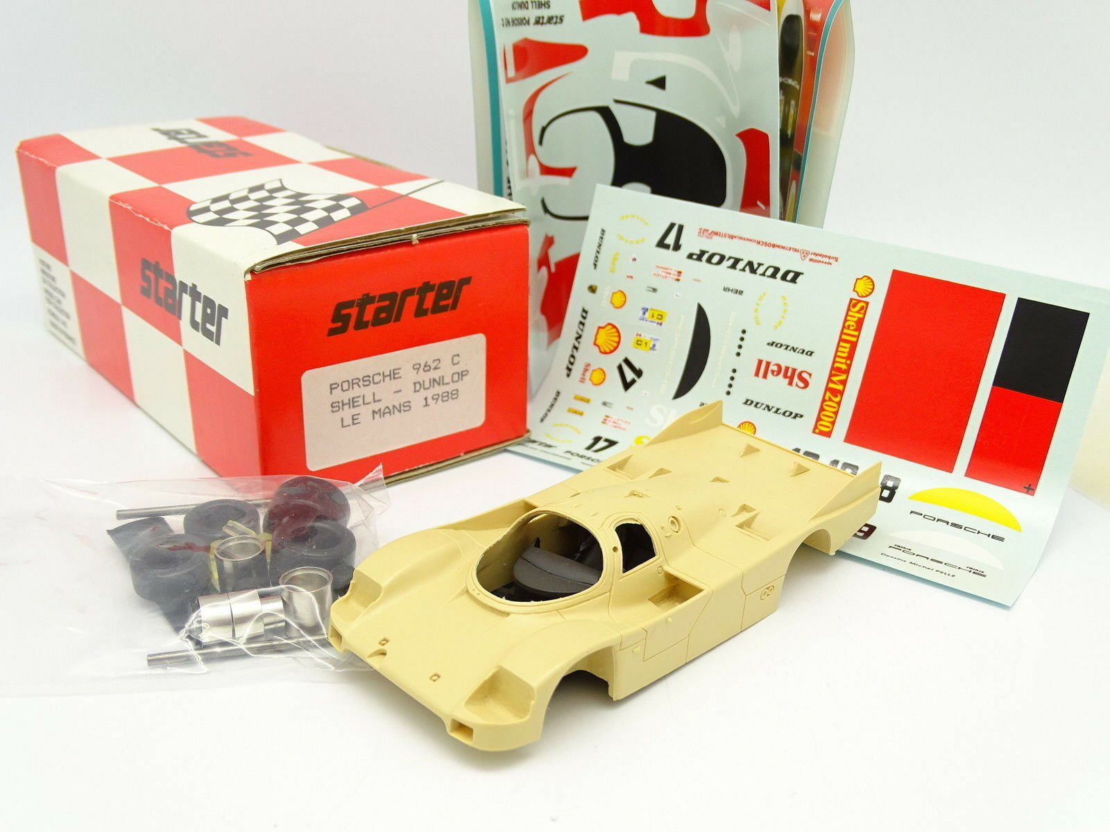 Starter Kit à Monter 1 43 - Porsche 962 C Shell Dunlop  Le Mans 1988