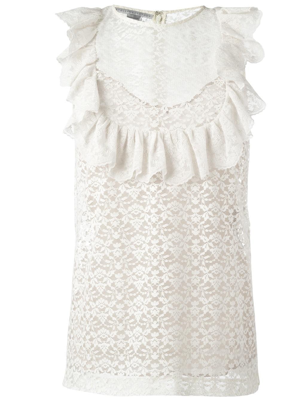 Stella mccartney lace blouse with ruffle US S - 4  IT 40  W TAGS