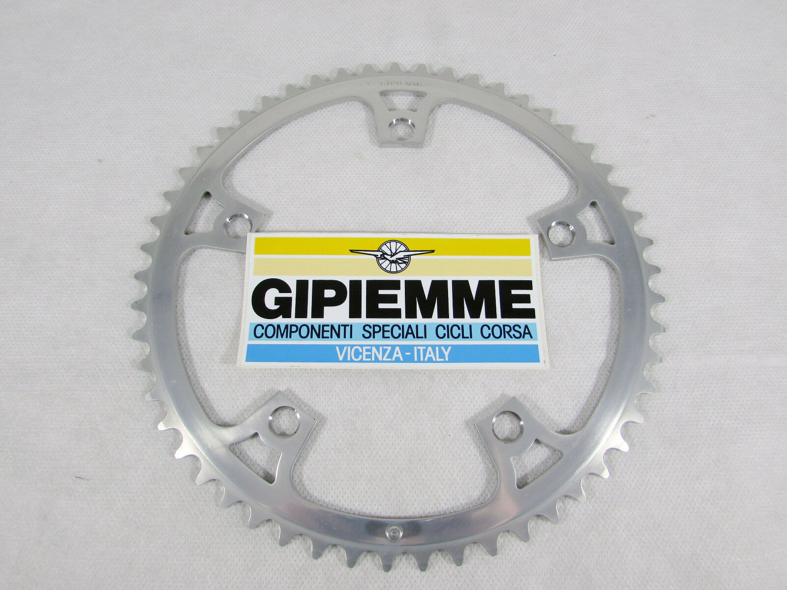 Vintage NOS GIPIEMME CRONOSPECIAL 53T CHAIN RING, 144 BCD, BCD, BCD, Fits Campagnolo 806cf6