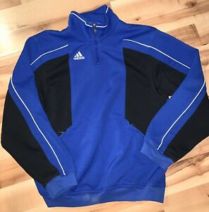 Blue-Adidas-Soccer-Quarter-Zip-Mens-Size-Medium