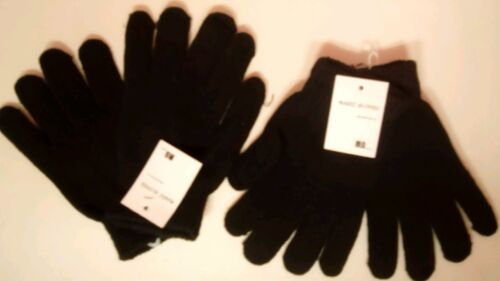 New unisex black thermal magic gloves for all the family 12 pairs in the lot.