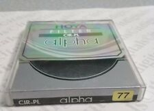 Genuine Hoya Alpha 77mm Circular Polarizer CPL Lens Filter 77 mm C-ALP77CRPL