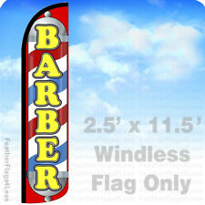 Barber Windless Swooper Flag Feather Banner Sign 25x115 Jl5 Z