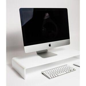 Acrylique-Monitor-Stand-Plexiglas-ecran-d-039-ordinateur-Riser-Shelf-couleur-option