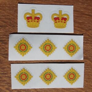 Eight-British-Army-Officer-Rank-Lieutenant-Captain-Major-Colonel-Vinyl-Sticker