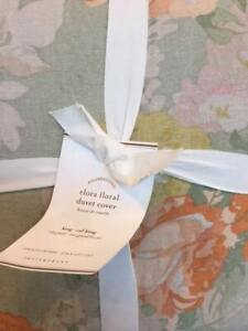 Pottery Barn Elora Floral Full Queen Duvet Only Cottage