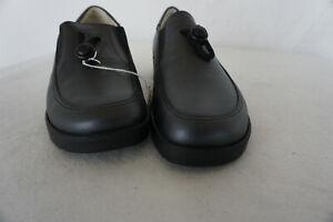 orthopaedische-Natural-Feet-Damen-Comfort-Schuhe-Mokassin-Gr-37-schwarz-Leder-NEU