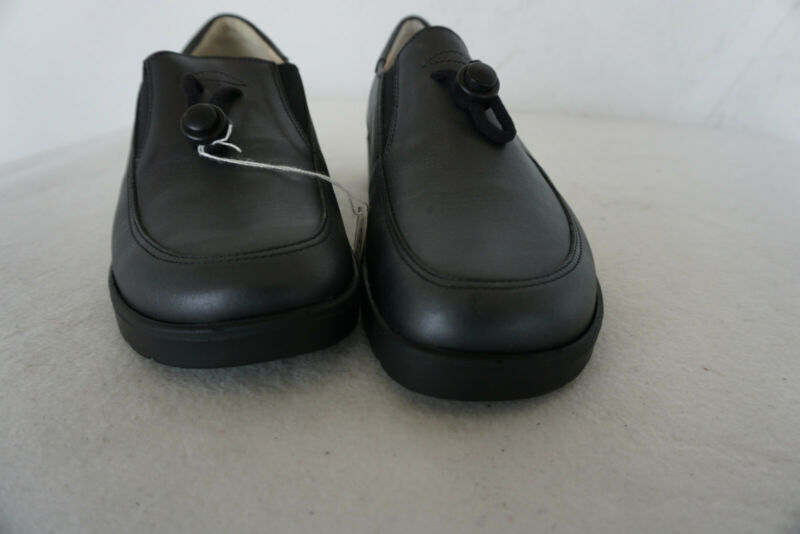Ortopedico Natural Feet Donna Comfort Scarpe Mocassini Gr.37 Nero Pelle Nuovo