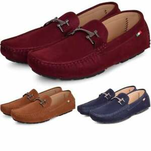 Details about Mens Luxury Italian Velvet Loafers Slip On Moccasins Driving Boat Deck Shoes