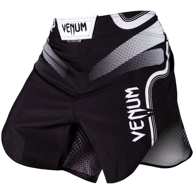 Venum Tempest 2.0 Pantaloncini Combattimento Bianco Nero NoGi Bjj Mma Ju Jitsu