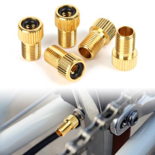 5PCS Brass Presta Valve Schrader Adaptor Bicycle Mountain Bike Tire Tube Pump
