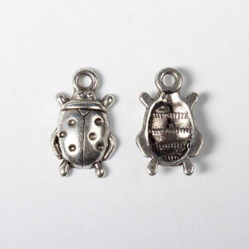 lot de 10 breloques charm pendentif perle scrapbooking coccinelle animaux  NEUF