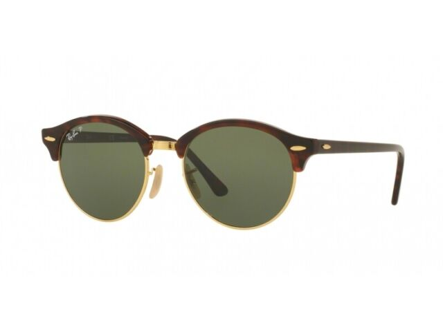9f4e49b72b0bf Ray-Ban 4246 990 58 Clubround Sunglasses Tortoise Green Polarized ...