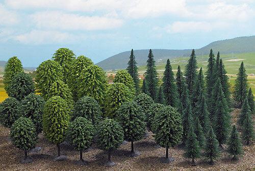 Busch 6491 h0 mixte avec 50 arbres méga-spar-set #neu en OVP #