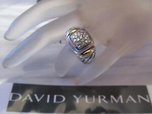 David-Yurman-Pave-Diamond-18K-Gold-amp-Sterling-Silver-Ring