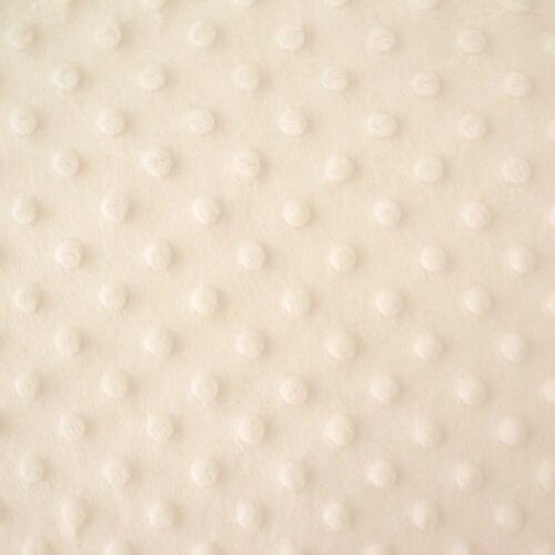 Oeko-tex Dimple Plush Fleece Dot Softest Cuddle Minkee Fabric Cream