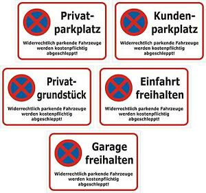 privatparkplatz und andere schild parken verboten 30x20 40x30 60x40cm ebay. Black Bedroom Furniture Sets. Home Design Ideas