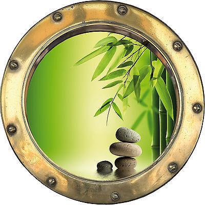 Sticker trompe l/'oeil Galets Bambous réf:hublot  H331