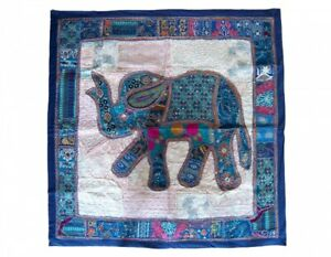 India hand embroidery carpet wall hanging applique handcrafted