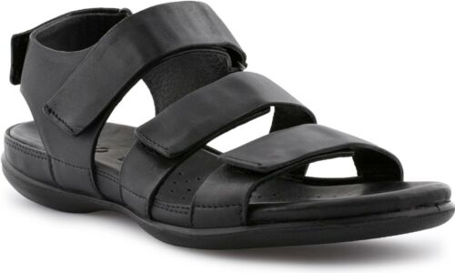 ECCO FLASH Ladies Womens Leather Adjustable Touch Fasten Summer Sandals