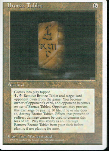 MAGIC THE GATHERING 4TH EDITION ARTIFACT BRONZE TABLET pl