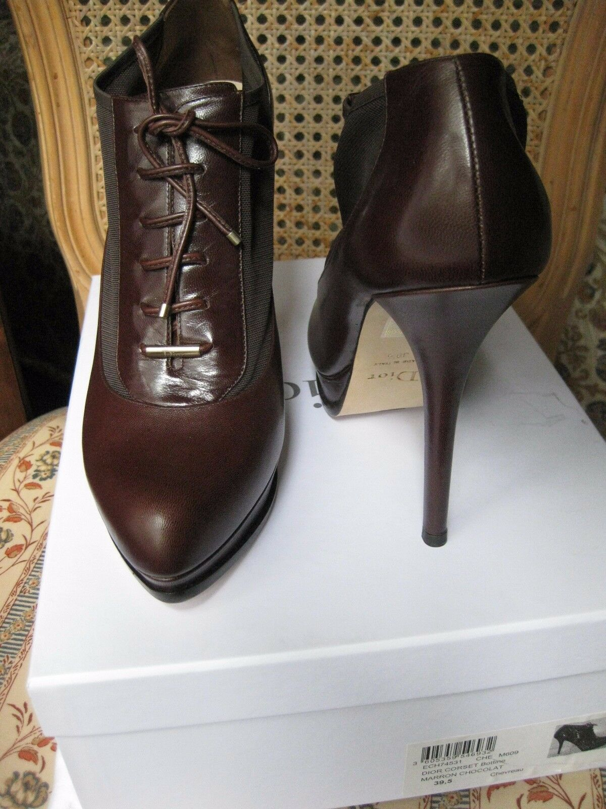 AUTHENTIC DIOR RUNWAY ANKLE CORSET BOOTS SIZE 39.5 9.5 NWB