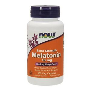 Now-Foods-Extra-Strength-Melatonin-10mg-100-Kapseln-Ruhe-Schlaf