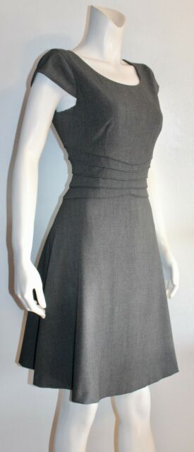 CALVIN KLEIN Charcoal Gray Corporate Career Sleeveless Dress Size 8