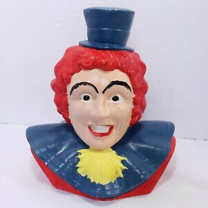 Vintage-Chalkware-Clown-Bust-9-5-034-Rare-Creepy-Decor-Scary-Movie-Prop-Dark-Weird